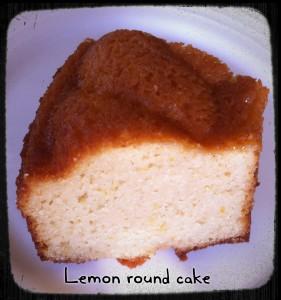Lemon round cake 1