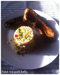 fried rice pork belly